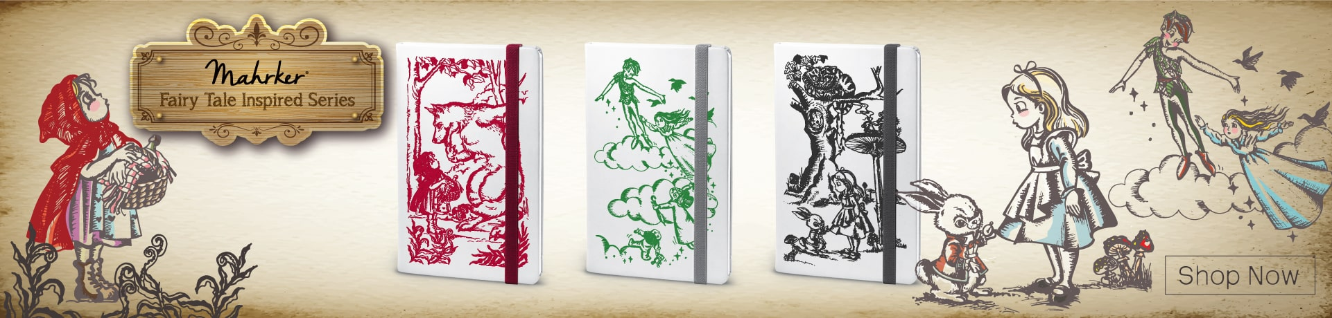 Mahrker Fairy Tale Inspired Series Notebooks